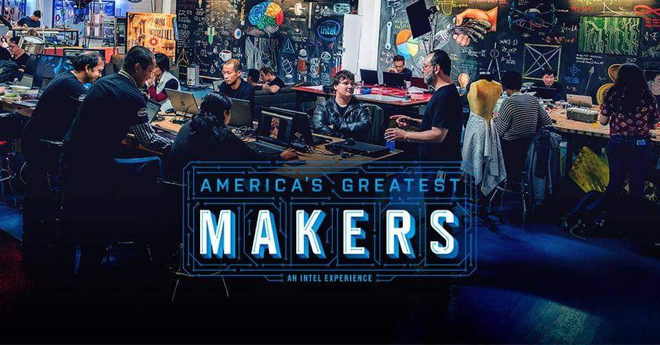 America's Greatest Makers Promo Shot with people standing around computers