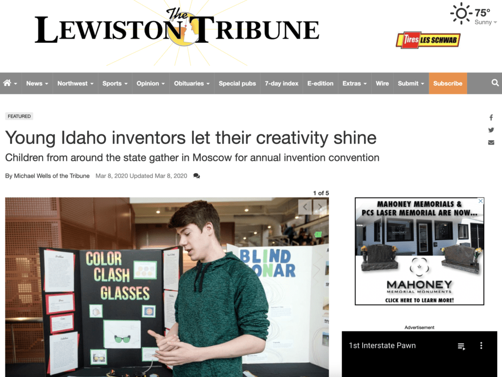 Lewiston Tribute - Young Idaho inventors let their creativity shine